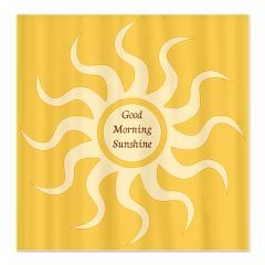 Good Morning Sunshine Fabric Shower Curtain