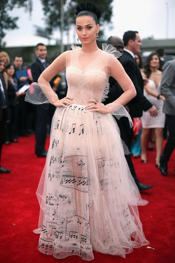Katy Perry | Fashion On The 2014 Grammy Awards Red Carpet..Most amazing Grammy dress EVER!!!
