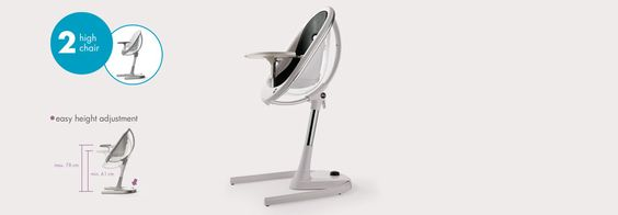Love this space age baby chair / high chair