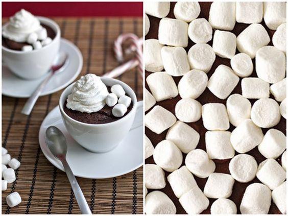 Polar Express Party: hot chocolate cupcakes