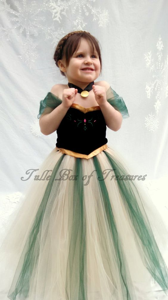 Frozen inspired Anna Costume green by TulleBoxofTreasures on Etsy, $59.99: