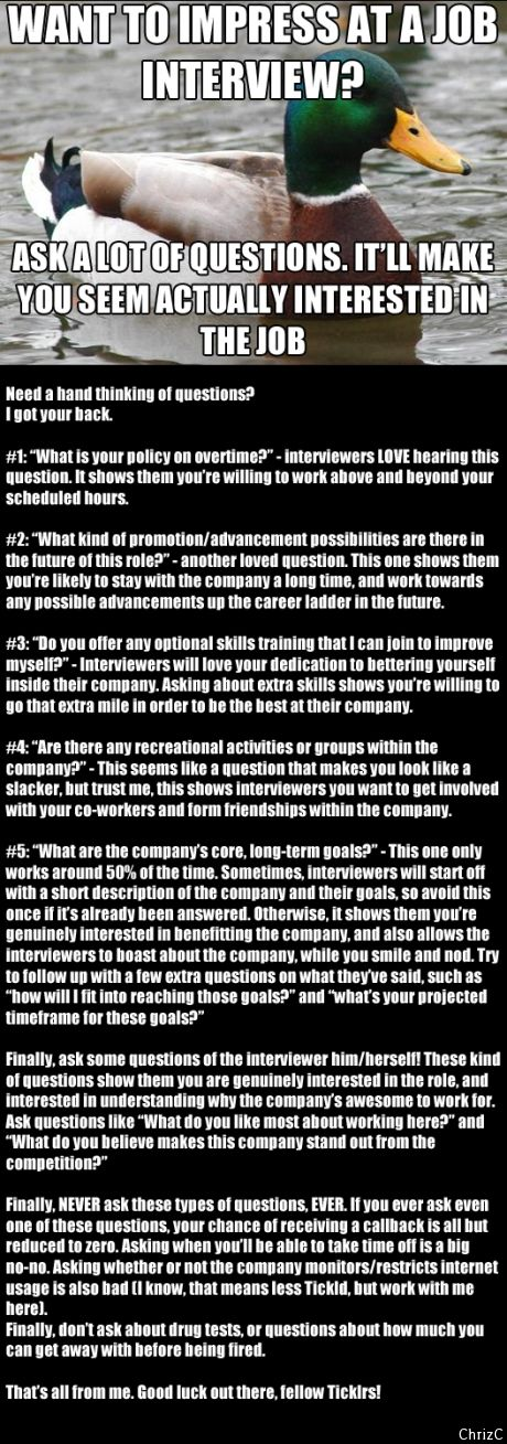 if you cant come up with questions you want to ask the employer job interviews life hacks and interview advice