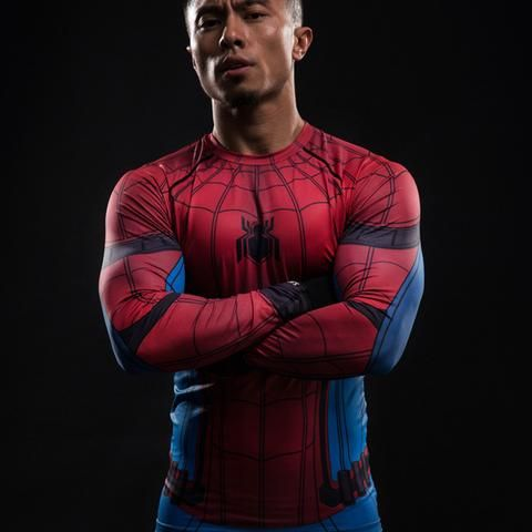 Spiderman Long Sleeve Compression Shirt - Grab now on SALE while supplies last! http://www.uksportsoutdoors.com/product/zondo-race-running-shorts/