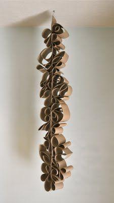 hanging paper sculpture