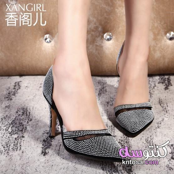 كولكشن جديد للصبايا موضة احذية صيف 2019 احدث موديلات الاحذية النسائية الصيفية احذية صيفية للبنات2020 Kntosa Com 17 19 156 Heels Kitten Heels Shoes