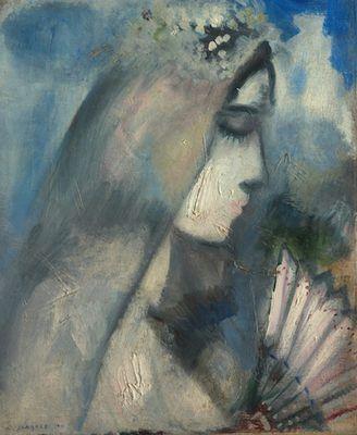La mariée à l'éventail, par Marc Chagall