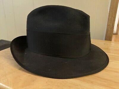Vintage JOHN B STETSON Black 3X Beaver Cowboy Hat Size 7