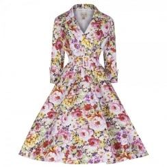 'Vivi' English Rose Pink Floral Dress