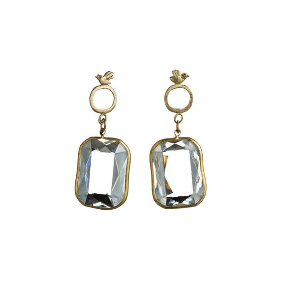 Birds and Clear Lucite Earrings by Natalie Frigo ($70) ❤ liked on Polyvore featuring jewelry, earrings, acrylic earrings, clear earrings, lucite jewelry, clear jewelry and clear crystal jewelry