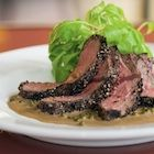 Pan Seared Beef with Green Peppercorn Sauce Recipe | Eat | Pinterest ...