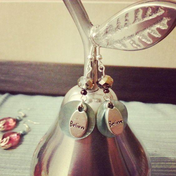 Believe earrings in Golden Pond by Juliet Fieldew -  www.dreambeaker.com