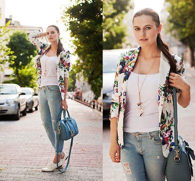 Lovelywholesale Blazer, M2 F Jeans, Persunmall Bag, Braska Brogues