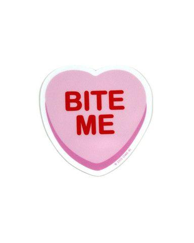 "Bitter Sweetheart ""Bite Me"" Sticker – Strange Ways"