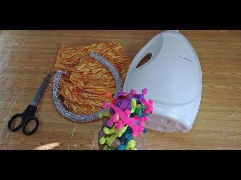 اعادة تدوير الجراكن البلاستيك بواقي القماش أفكار بسيطة شيالة للش Diy Home Crafts Home Crafts Diy Crafts