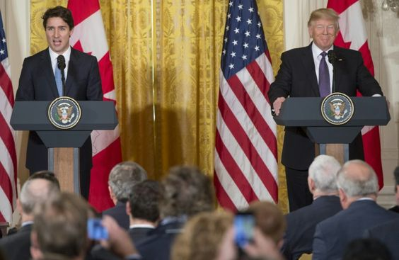 Trump, Trudeau grapple with differences on refugees, trade