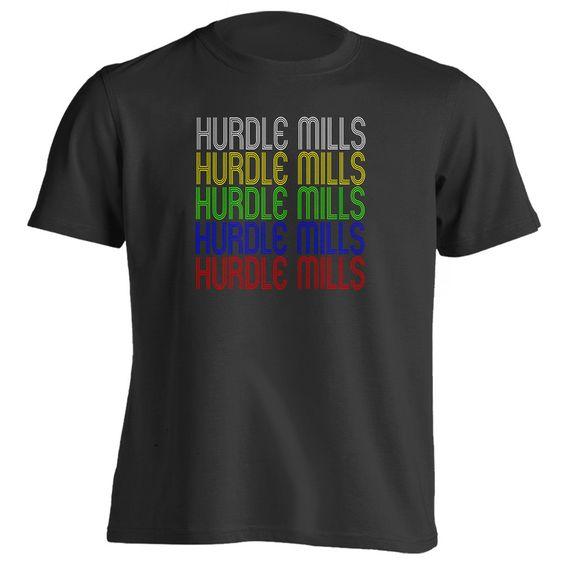 Retro Hometown - Hurdle-Mills, NC 27541 - Black - Small - Vintage - Unisex - T-Shirt