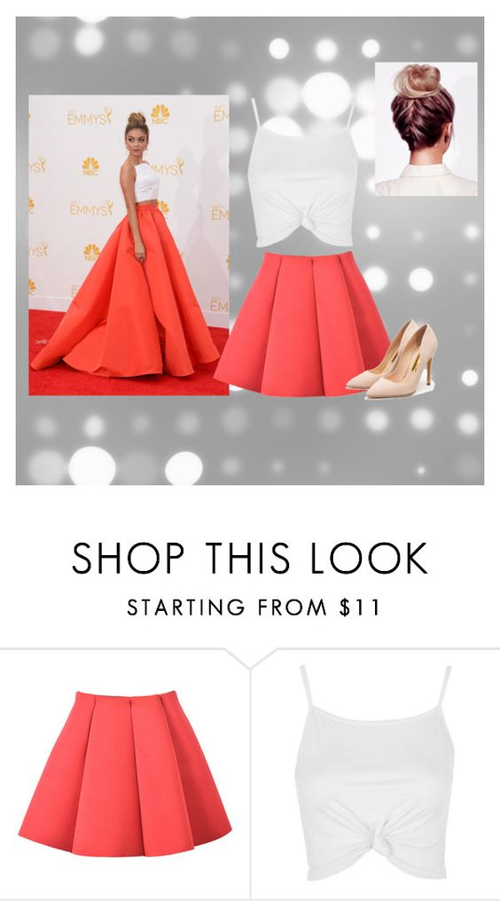 """""""With a twist"""" by fashion27033 ❤ liked on Polyvore featuring Topshop and Rupert Sanderson"""