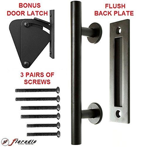 Floradis Pull And Flush Handle Set 12 Barn Door Sliding Barn Door Hardware Back Plate