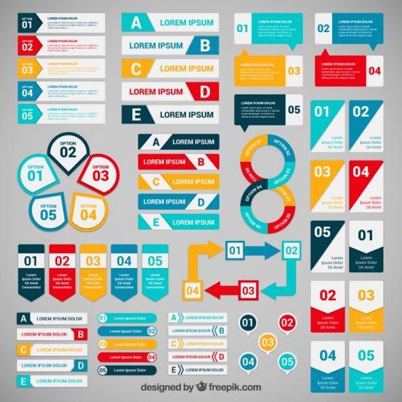 Bannières colorées pour infographie | Graphics, Student-centered ...