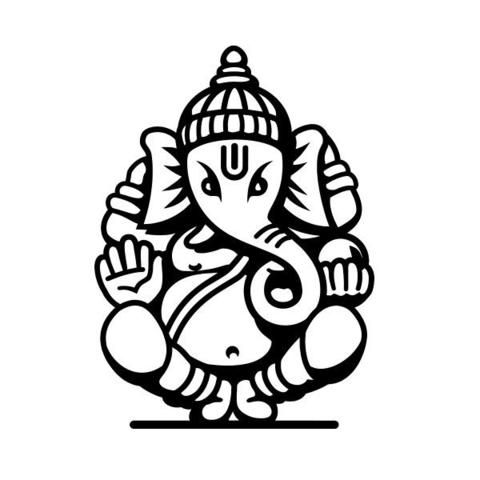 Ganesha Ganesh God Hindu Car Vinyl Sticker SELECT SIZE