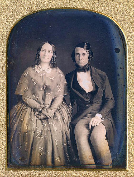 Dress with pelerine, fingerless gloves, c. 1840's