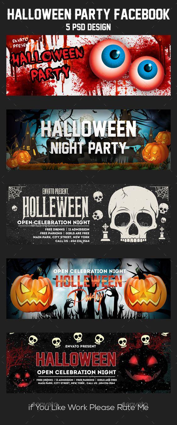 5 Halloween Facebook Timeline - advertising timeline template