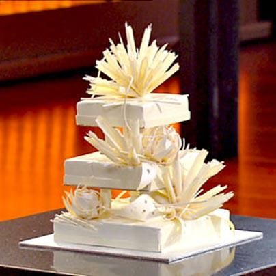 11 layer 3 tier Wedding cake by Adriano Zumbo - MasterChef the professionals Australia 2013 ..unbelievable so good. #modern #white #chocolate