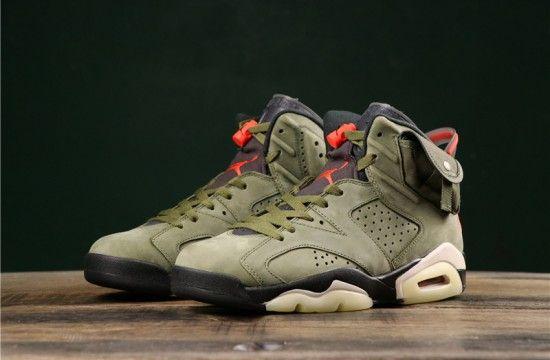 Travis Scott Air Jordan 6 Medium Olive Cactus Jack Cn1084 200 Air Jordans Jordans Jordan 6
