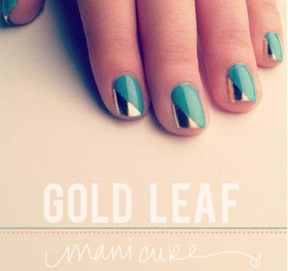 Goldleafed nails