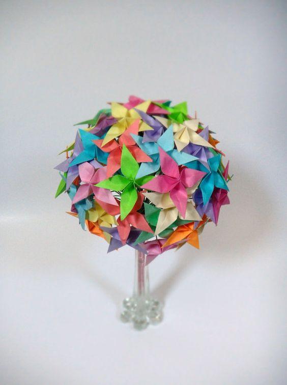 vente arc en ciel confetti bouquet de fleurs de par dearbetsy bouquet moderne. Black Bedroom Furniture Sets. Home Design Ideas