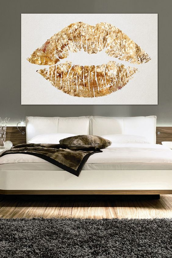 Love this painting d r e a m h o m e pinterest for Lips wall art