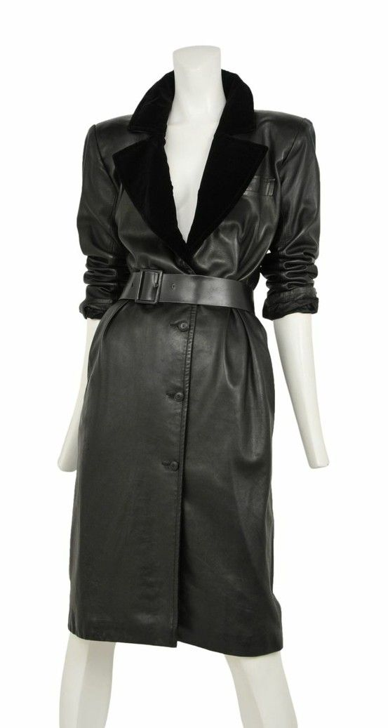 Vintage Yves Saint Laurent Leather Coat Dress @ Resurrection Vintage #YSL