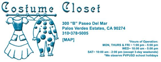 Great Place To Rent Costumes For Parties And Events School Holidays Rent Costumes Palos Verdes Estates