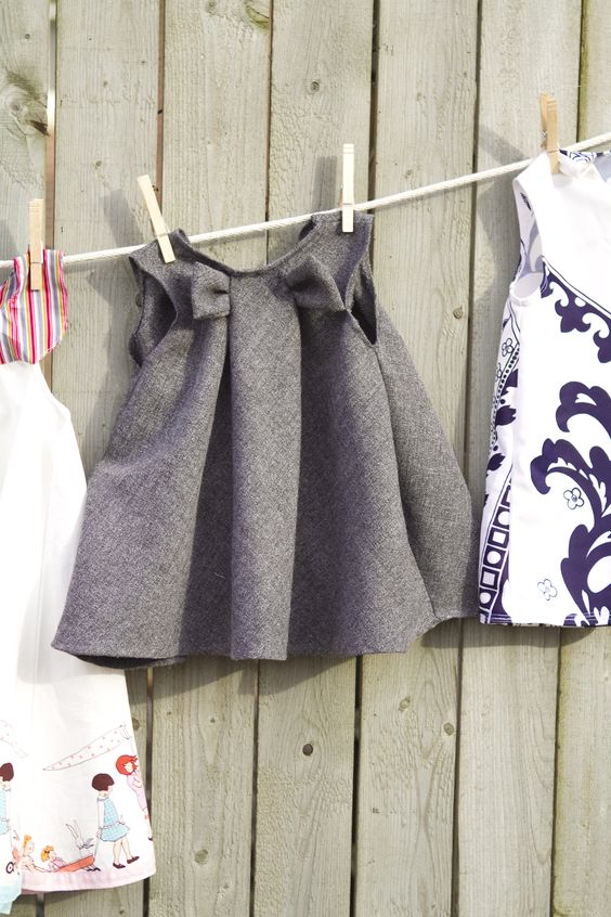 This pattern is only $5 and swoon worthy! Sewing for girls….   3 Beans Studio