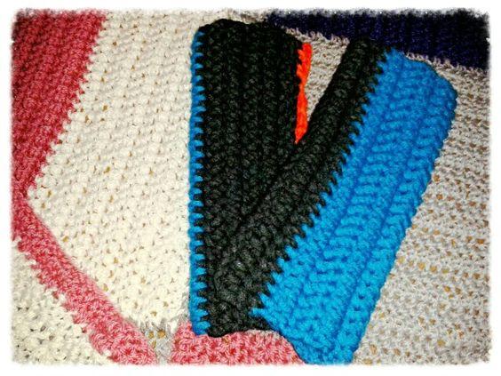 Pulswärmer, gehäkelt  Raucherhandschuhe, Stulpen  Crochet selfmade