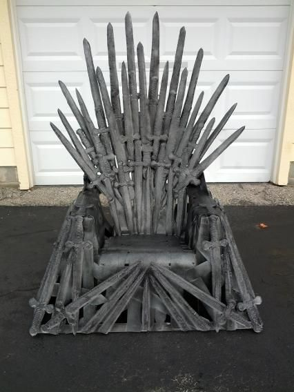 "For the DIY crowd, playing the ""game of thrones"" is nothing but fun. And these fandom-obsessed makers win the battle with their imaginative — and sometimes jaw-dropping — replicas of the HBO series' Iron Throne. If you're done binge-watching last season in time for Sunday's Season 5 premiere, browse this collection of life-sized (and one bunny-sized) models, created from every material you can imagine, from wood pallets to carrots to pool noodles, and the old standby — duct tape. Feeling…"