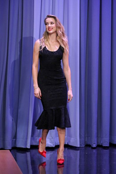 Fabulously Spotted: Amber Heard Wearing Dolce & Gabbana - Tonight Show Starring Jimmy Fallon - http://www.becauseiamfabulous.com/2015/06/amber-heard-wearing-dolce-gabbana-tonight-show-starring-jimmy-fallon/