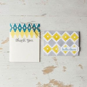 Eye-Catching Ikat clear stamp set now available from Stampin' Up!