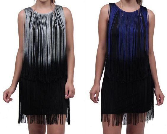 vestido de franjinha preto - Pesquisa Google