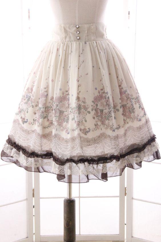 Prinzessin sweet lolita rock Süße diamant schnalle pilz Alice gedruckt spitze lotusblatt Chiffon röcke MY027