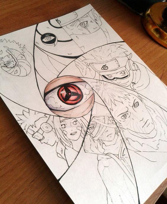 Tobi Uchiha Drawing obito uchiha (credits to artist) everything naruto ...