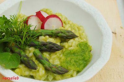 herzelieb: Rezept für ein grünes Spargel-Risotto
