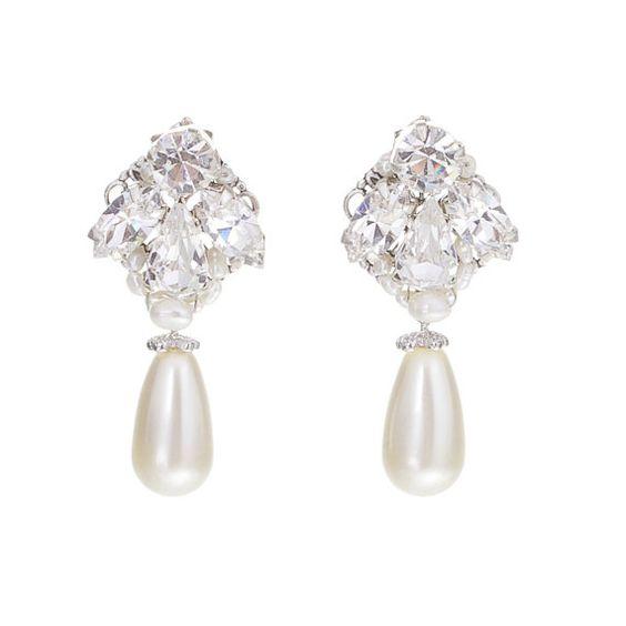 Wedding Earrings  Ivory Pearl Earrings Bridal by LavenderByJurgita