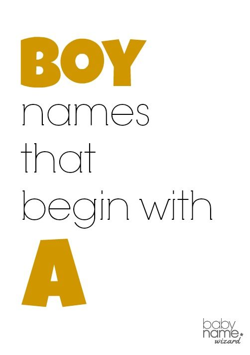 Boys, Names starting with a and Names on Pinterest