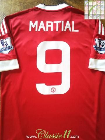 Relive Anthony Martial's 2015/2016 season with this original Adidas Manchester United home football shirt.
