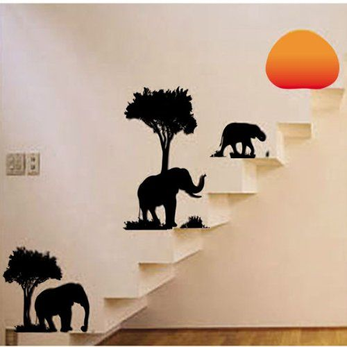 Tree Elephant Removable Wall Vinyl Sticker Decals Wallpaper LW57_8158 Mid wall sticker,http://www.amazon.com/dp/B00ER9HSIW/ref=cm_sw_r_pi_dp_694-sb1HCPXGY0K2