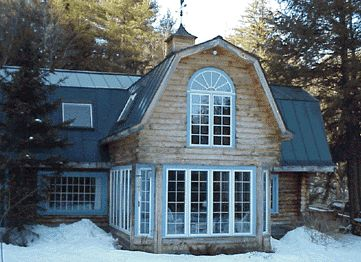 Stone Barn Roof 2 Story Conservatory Sunroom Addition