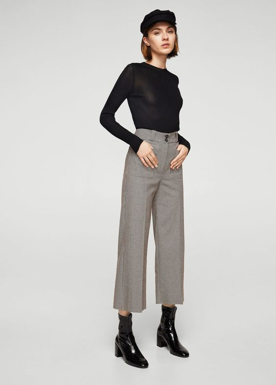 Mini houndstooth trousers | MANGO