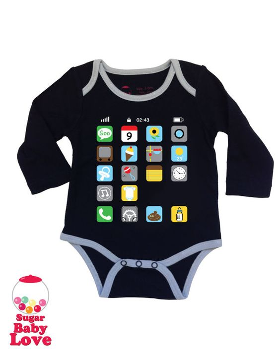 """The baby clothes on this site are hilarious. Haha. """"There's a nap for that"""" Also love the candy necklace/fanny pack one!"""