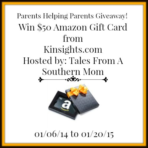 $50 Amazon Gift Card from Kinsights.com Parents Helping Parents! 1/20 US
